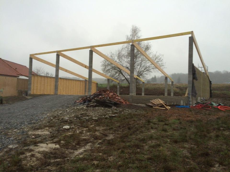 Construction ossature bois hautes pyr n es 65 yoan naturel - Construction hangar bois ...