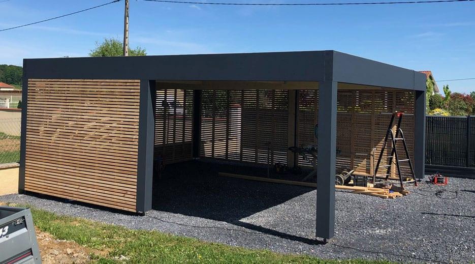 Abri-voiture,structure-bois,-toit-plat-65-Goudon