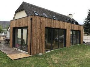 construction-extension-ossature-bois-bardage-toit-terrasse-vielle-adour-yoan-naturel.fr-65-hautes pyrenees