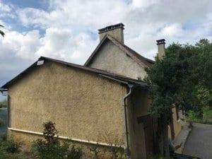 Rehausse toiture ossature bois sur-mesure charpente traditionnelle bardage cédral- yoan naturel-construction bois-hautes pyrenees-tarbes-st martin