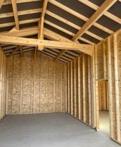 sarl yoan naturel_Hangar-ossature-bois,-charpente-traditionnelle,-couverture-tuiles-et-bardage-Cédral-à-Dours-(2)