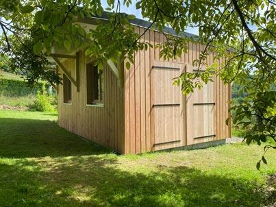 Yoan Naturel sarl-Abri-de-jardin-ossature-bois_Argeles-Bagneres-(4)